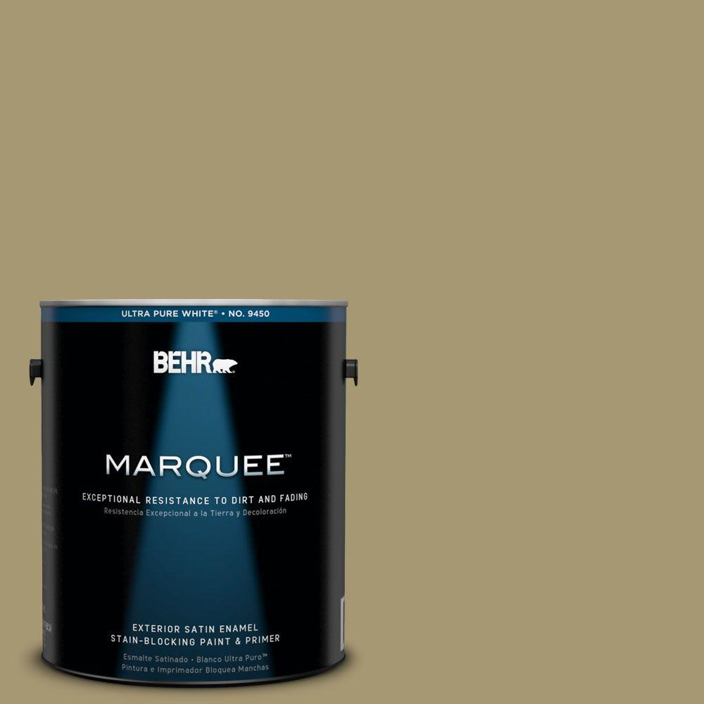 BEHR MARQUEE 1-gal. #S330-5 Dried Chive Satin Enamel Exterior Paint-945401 -