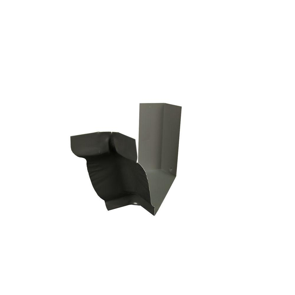 Amerimax Home Products 6 in. Tux Gray Aluminum Inside Strip Miter-6ISMTG