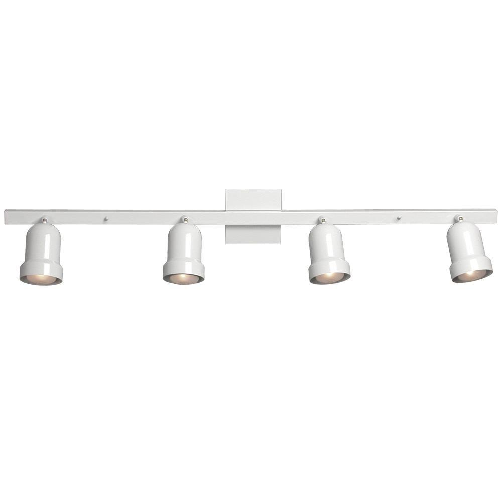 Negron 4-Light White Track Lighting with Directional Heads