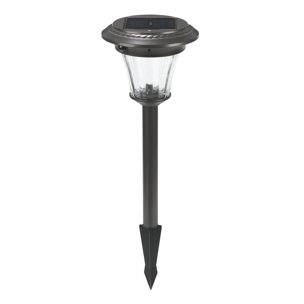 Charcoal Brown Outdoor Solar LED Motion Pathway Light