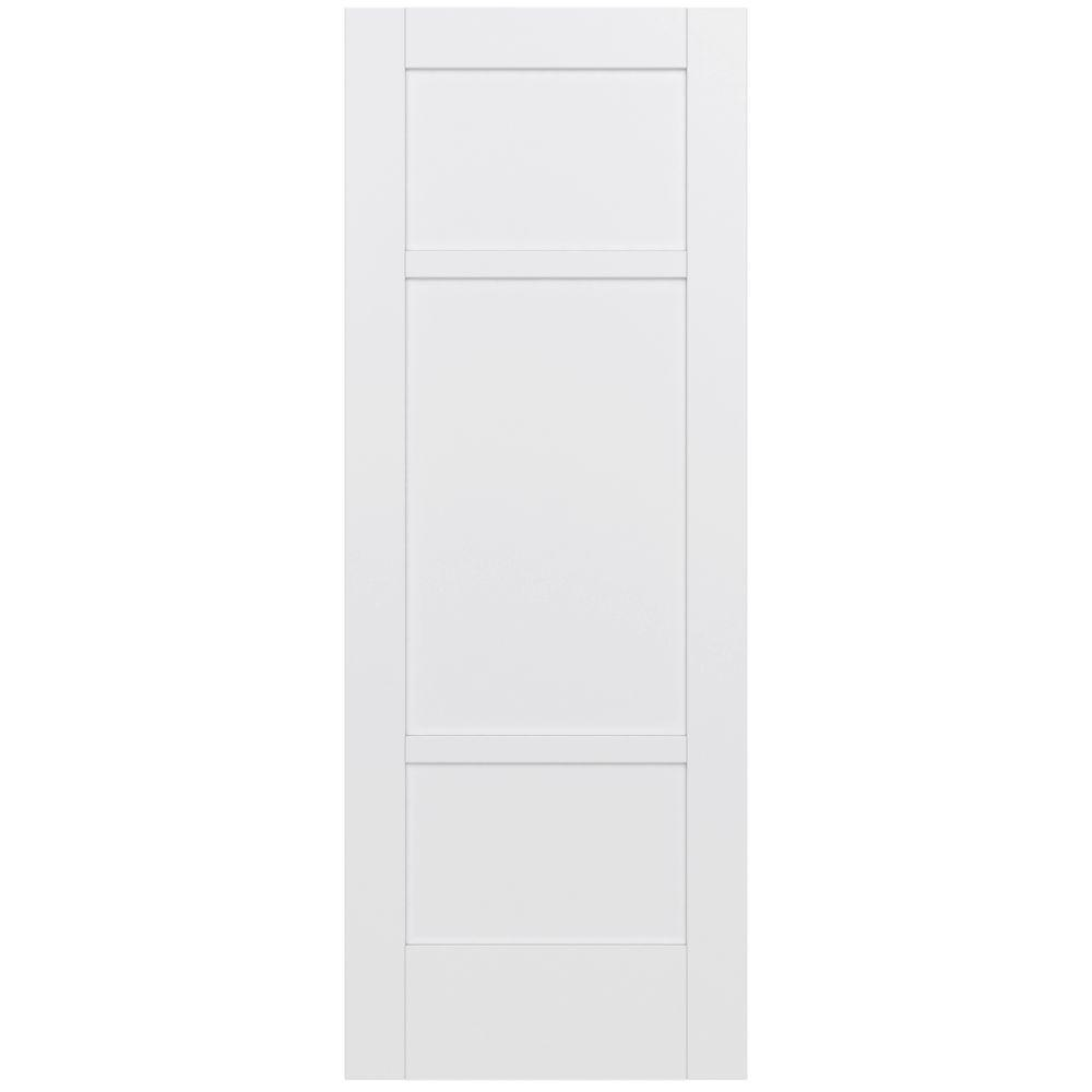 White interior doors 3 panel - Moda Primed White 3 Panel Solid Core Wood