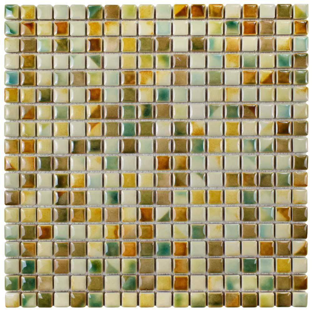 Merola Tile Rustica Mini Springfield 12 in. x 12 in. x 8 mm Porcelain Mosaic Tile