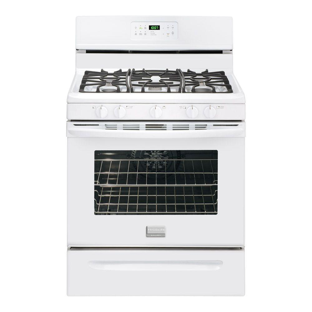 Frigidaire Gallery 30 in. 5.0 cu. ft. Gas Range with Self-Cleaning Convection Oven in White