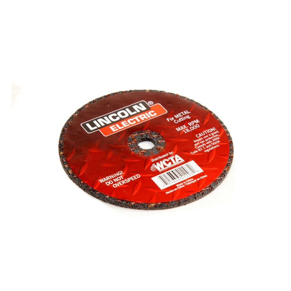 Lincoln Electric 4 in. x 1/32 in. Red 3/8 in. Arbor Cut-Off Wheel