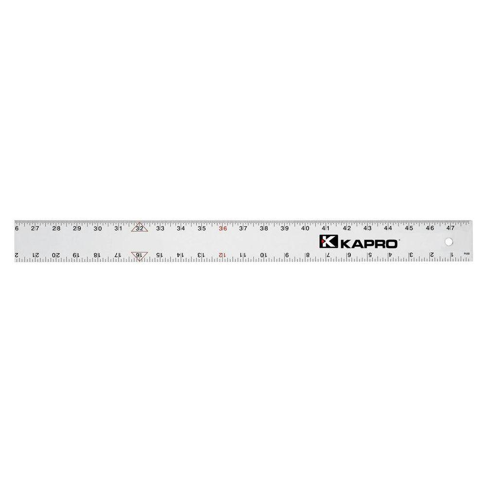 48 in. Aluminum Straight Edge with English Graduations 1/16