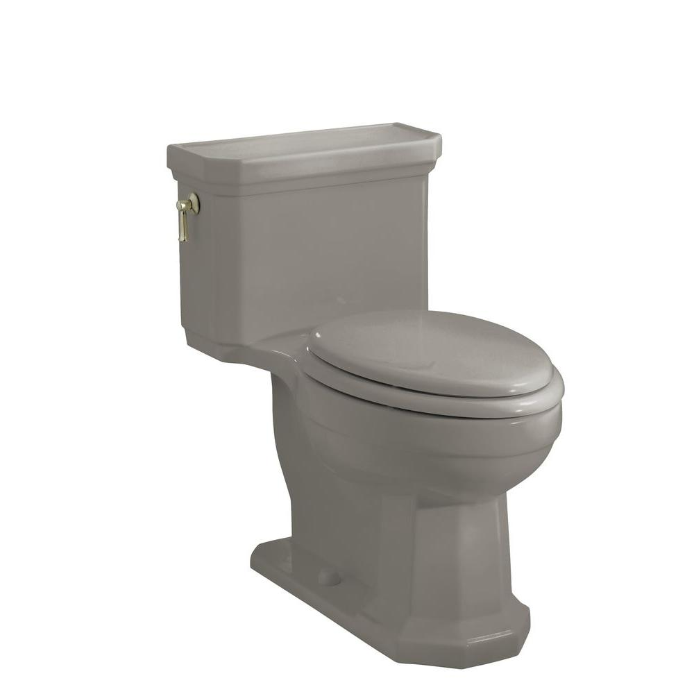 KOHLER Kathryn Comfort Height 1-piece 1.6 GPF Elongated Toilet with AquaPiston Flushing Technology in Cashmere
