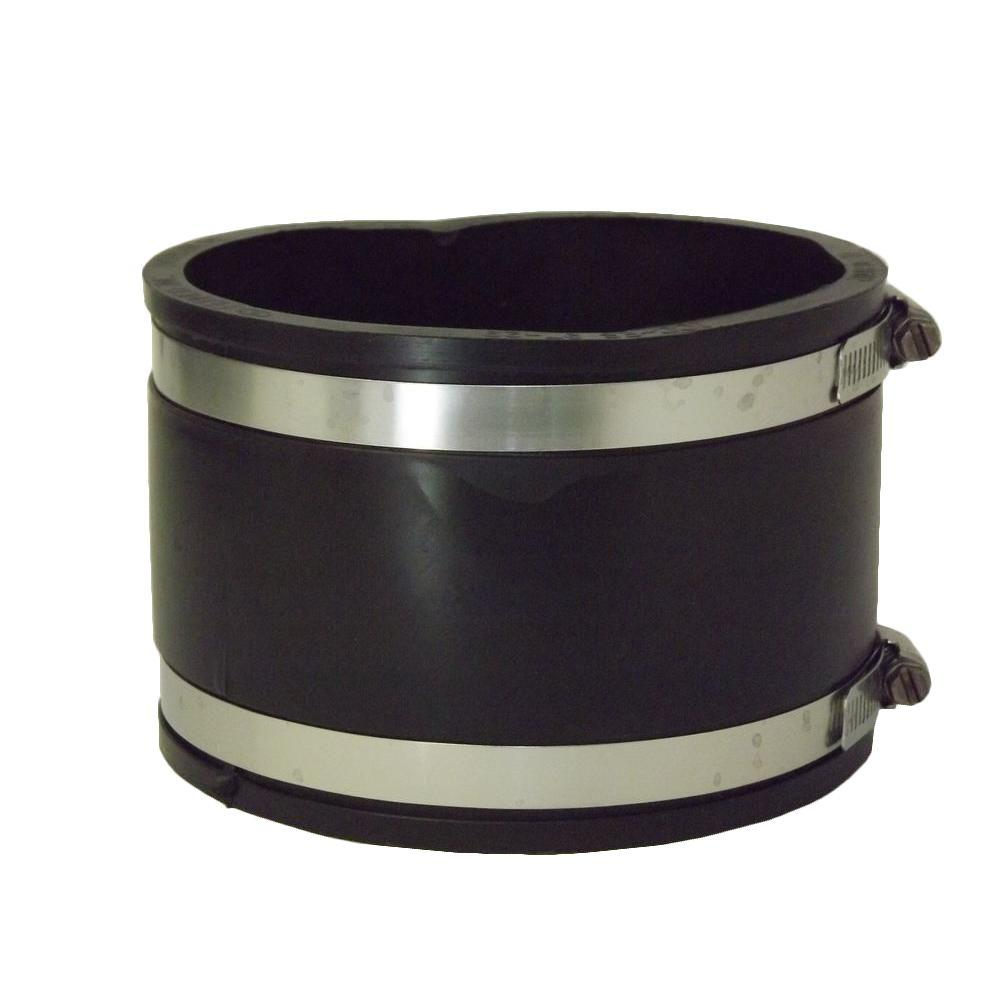 4 in. x 4 in. PVC Concrete to Concrete Flexible Coupling