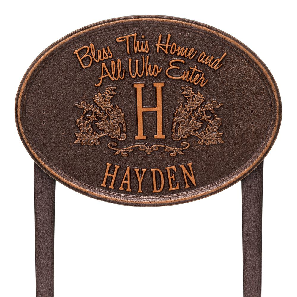 Bless this home monogram oval personalized plaque 2824ac the home depot Bless home furniture outlet