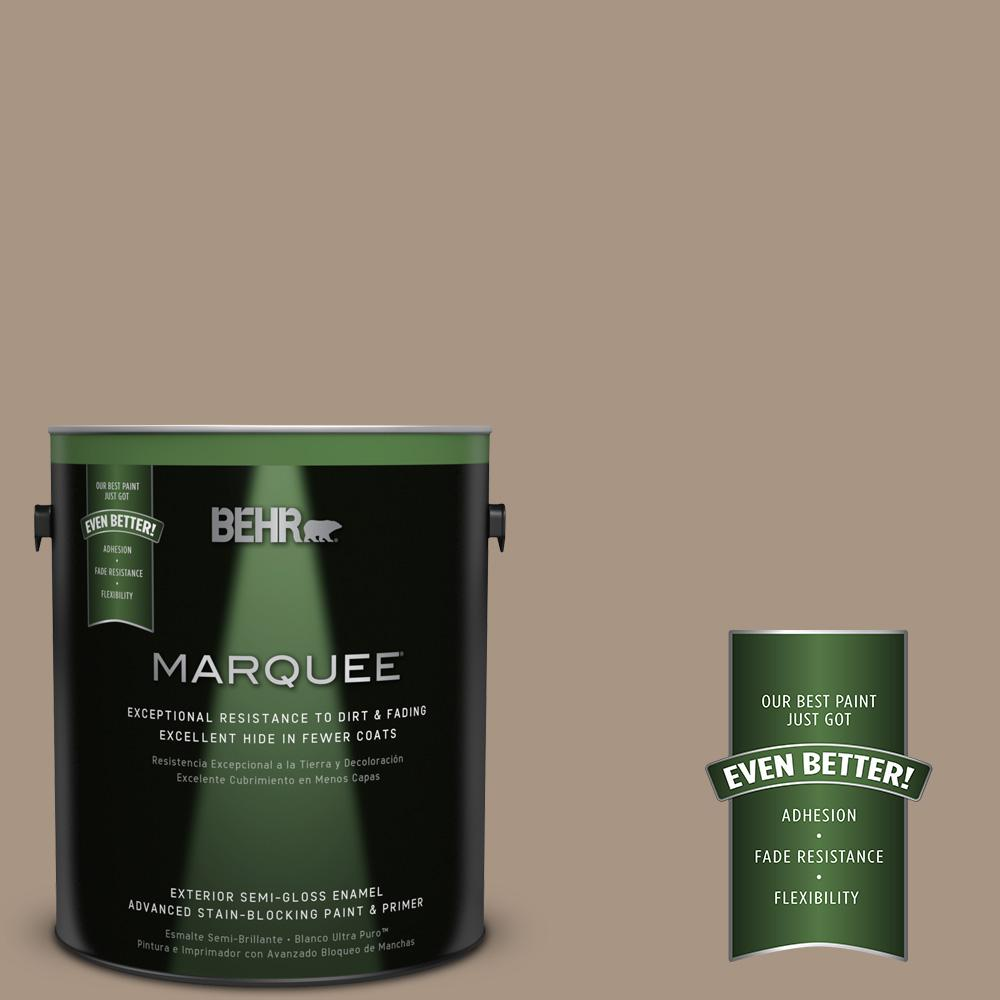 BEHR MARQUEE 1 gal. #T17-11 Silent Sands Semi-Gloss Enamel Exterior Paint-545401