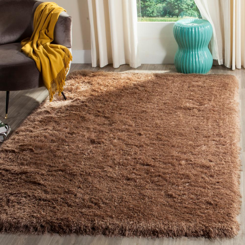 Venice Shag Taupe 5 ft. x 8 ft. Area Rug