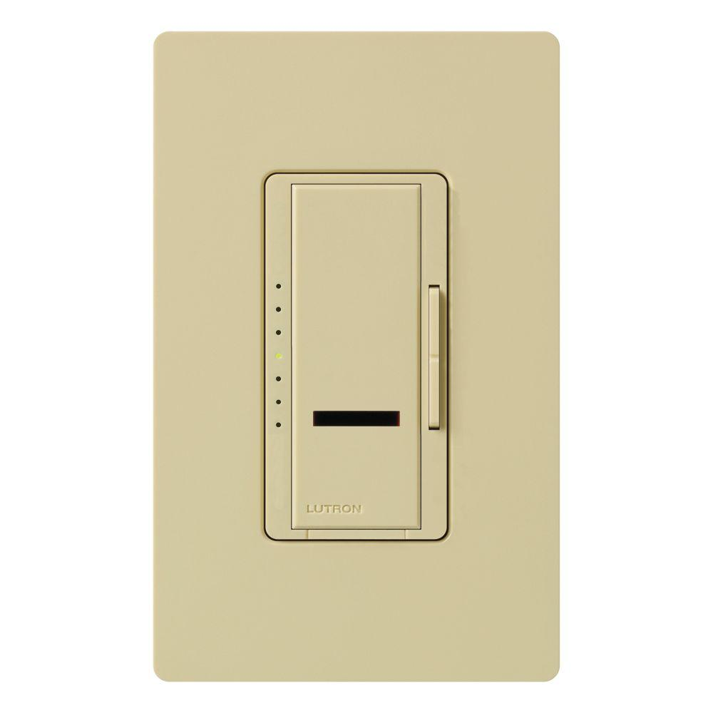 Maestro IR 600-Watt Single-Pole Digital Dimmer, Ivory