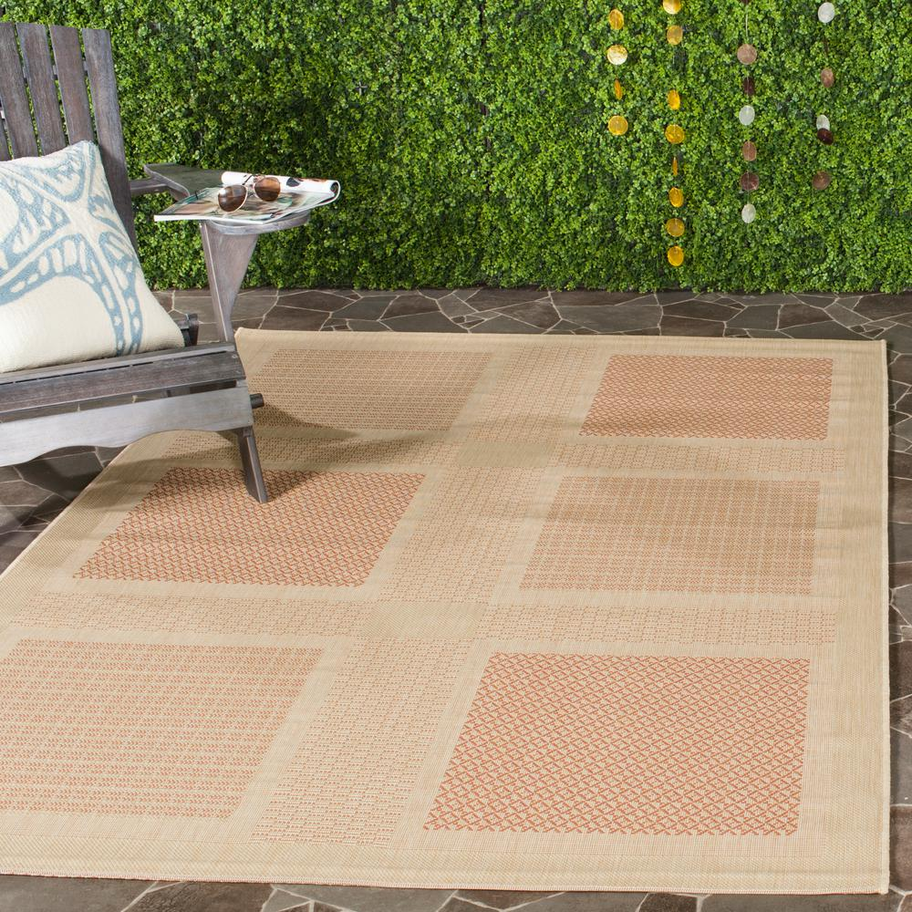 Courtyard Natural/Terracotta 5 ft. 3 in. x 7 ft. 7 in.