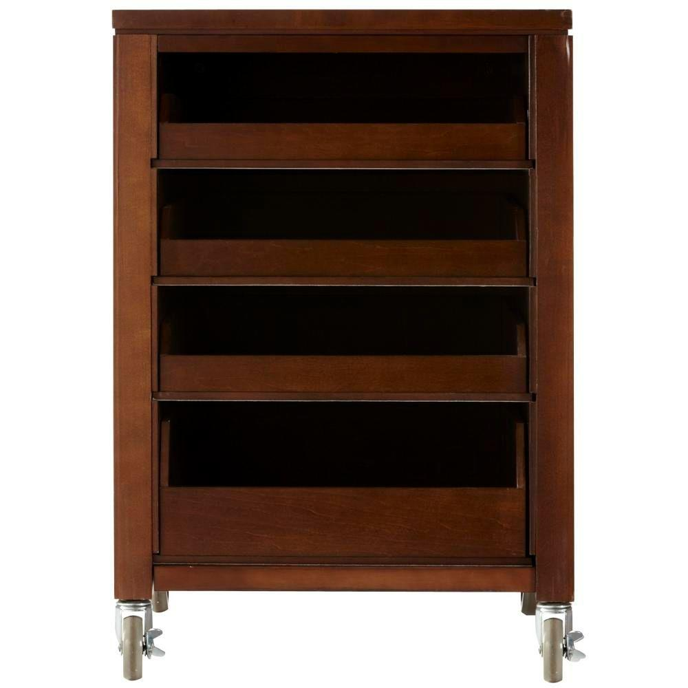 Martha Stewart Living 31 in. H Sequoia Space Cart with 4-Pull Out Trays