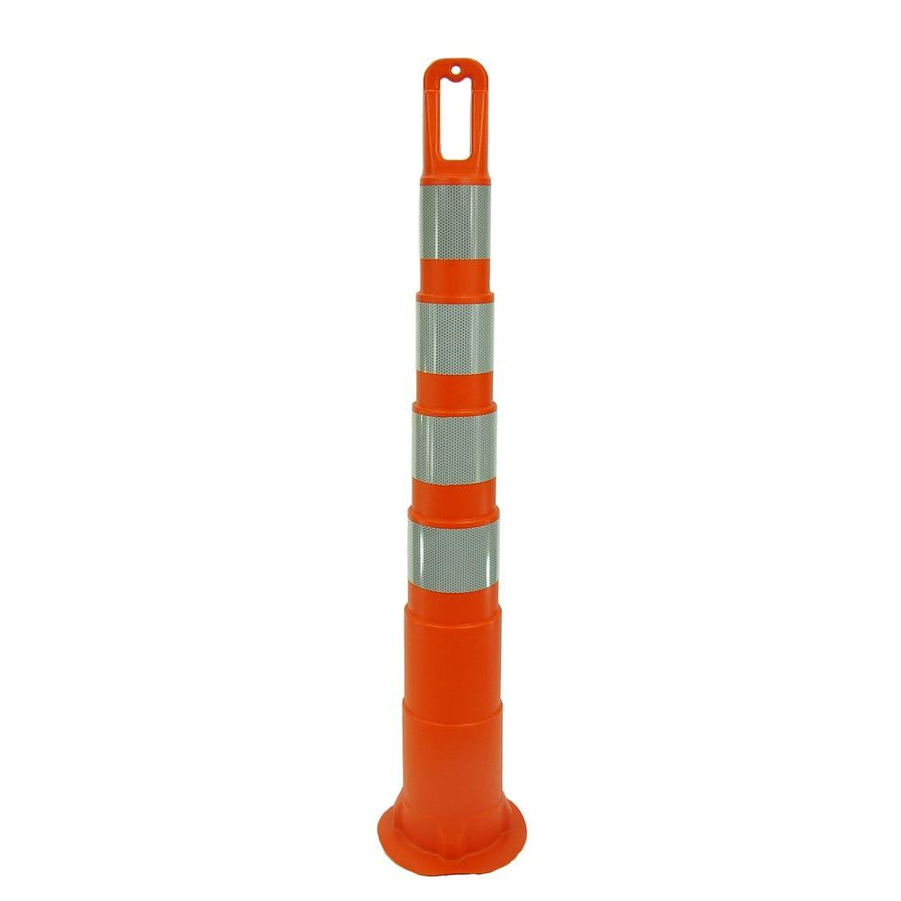 42 in. Orange Safety Cone without Base and 4 Bands with