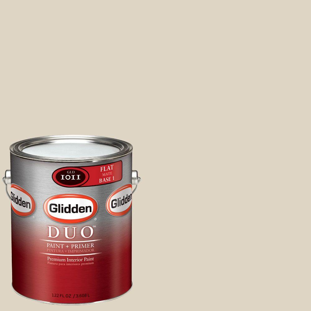 Glidden DUO 1-gal. #GLN11 Natural Wicker Flat Interior Paint with Primer