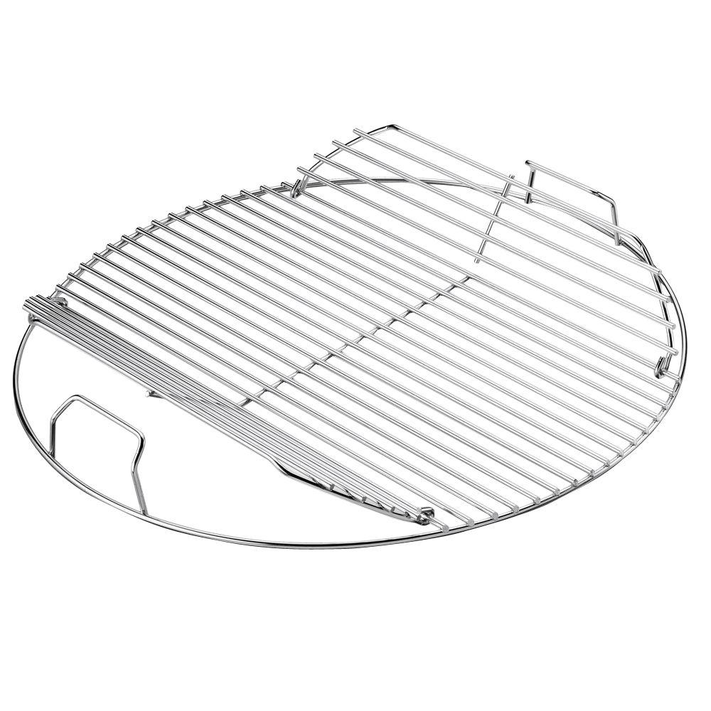 Hinged cooking grate for Weber One-Touch, Performer, Bar-B-Kettle &