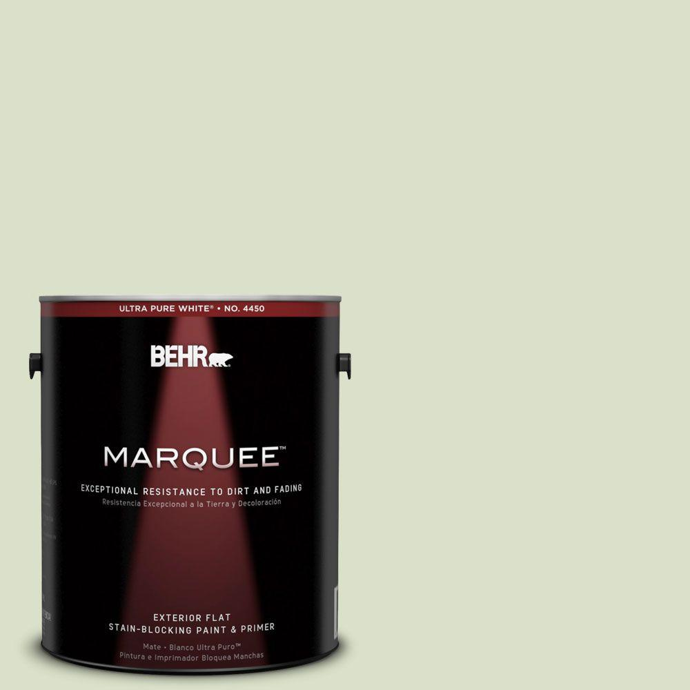 BEHR MARQUEE 1-gal. #420E-2 Palm Breeze Flat Exterior Paint-445001 - The