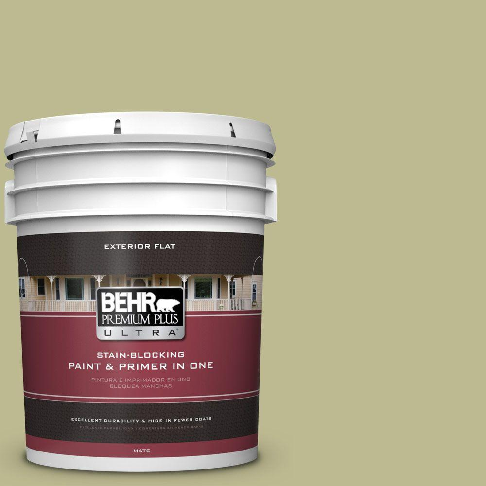 BEHR Premium Plus Ultra 5-gal. #S340-4 Back to Nature Flat Exterior Paint