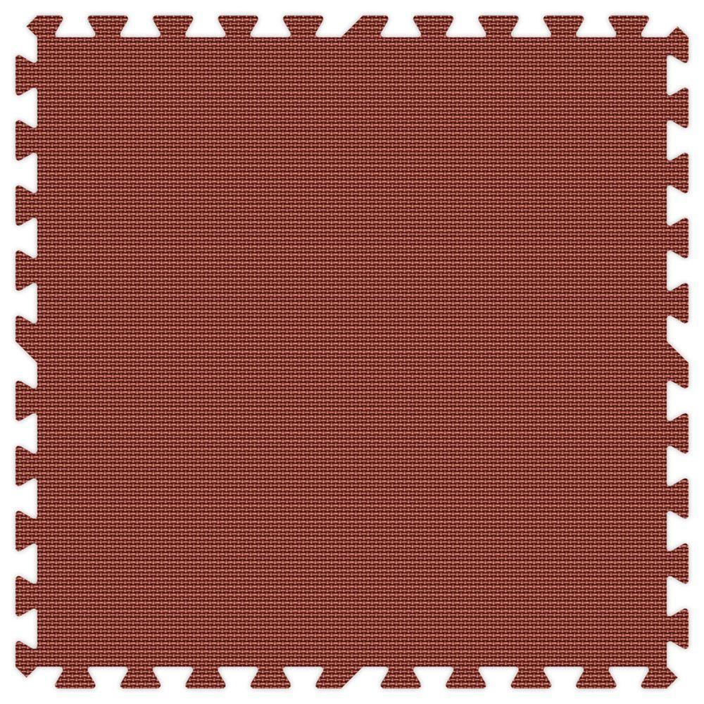 Burgundy 24 in. x 24 in. Comfortable Mat (100 sq.ft. /
