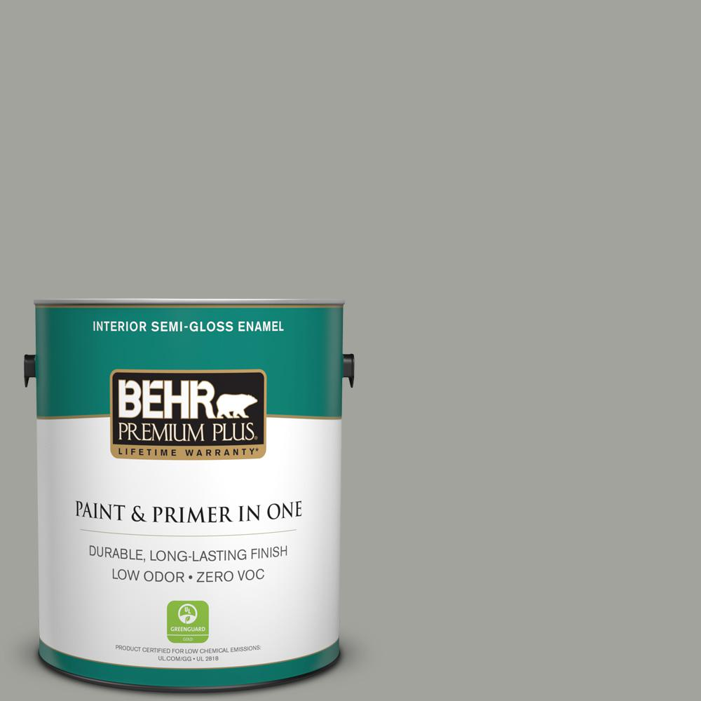 1-gal. #N380-4 Strong Winds Semi-Gloss Enamel Interior Paint