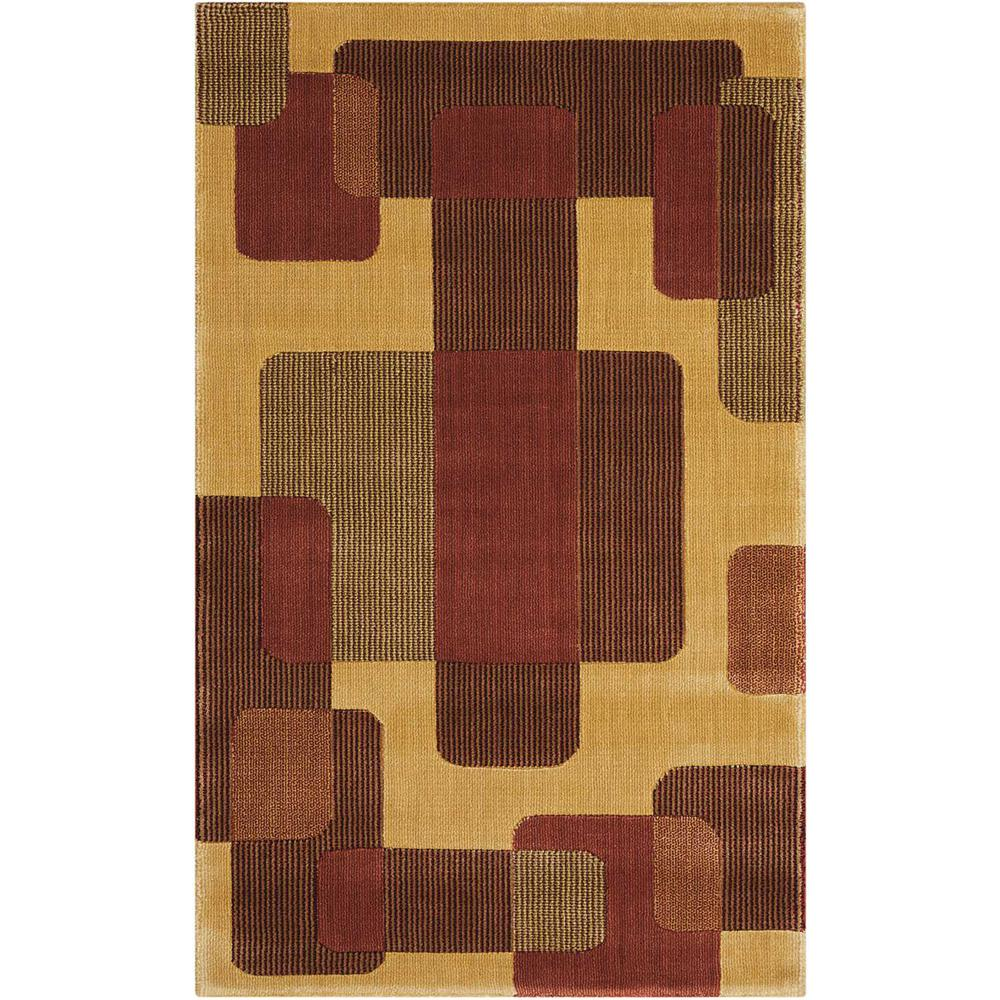 Nourison Overstock Parallels Multicolor 2 ft. 3 in. x 3 ft. 9 in. Accent Rug
