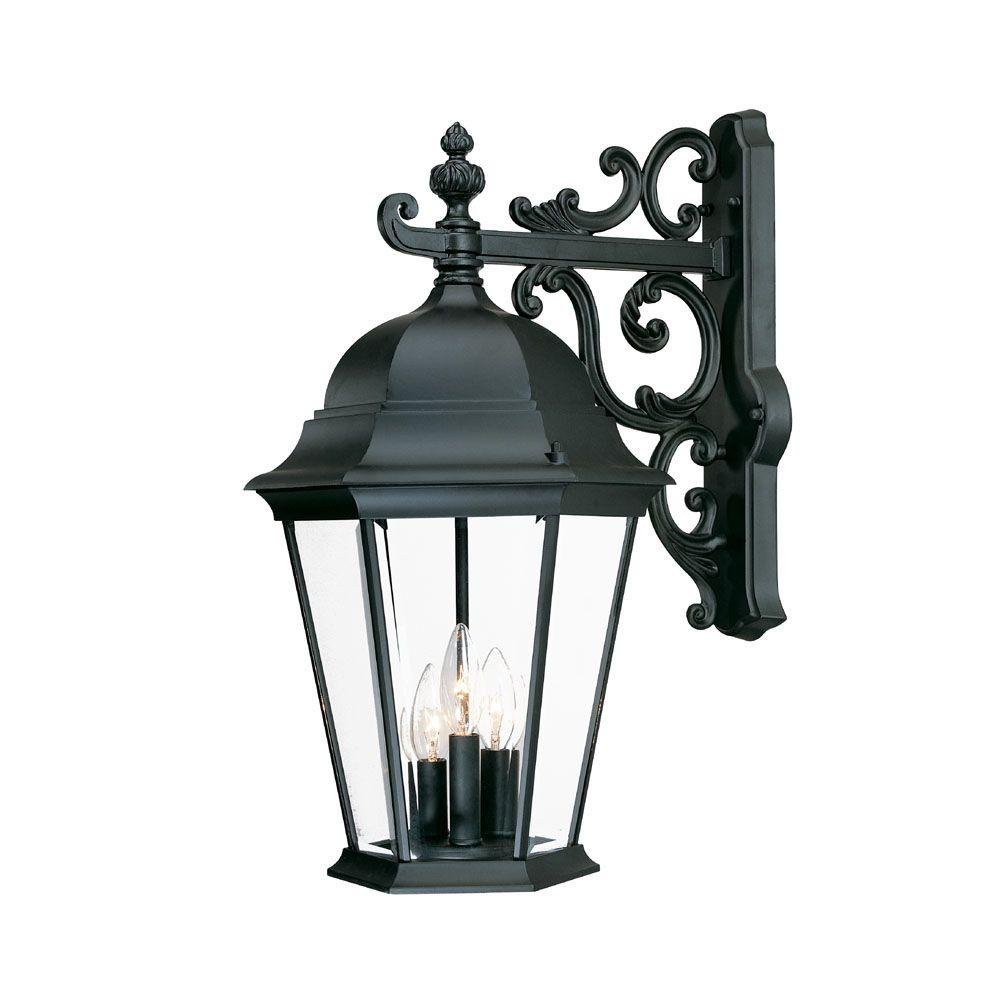 Acclaim Lighting Richmond Collection 3-Light Matte Black Outdoor Wall-Mount