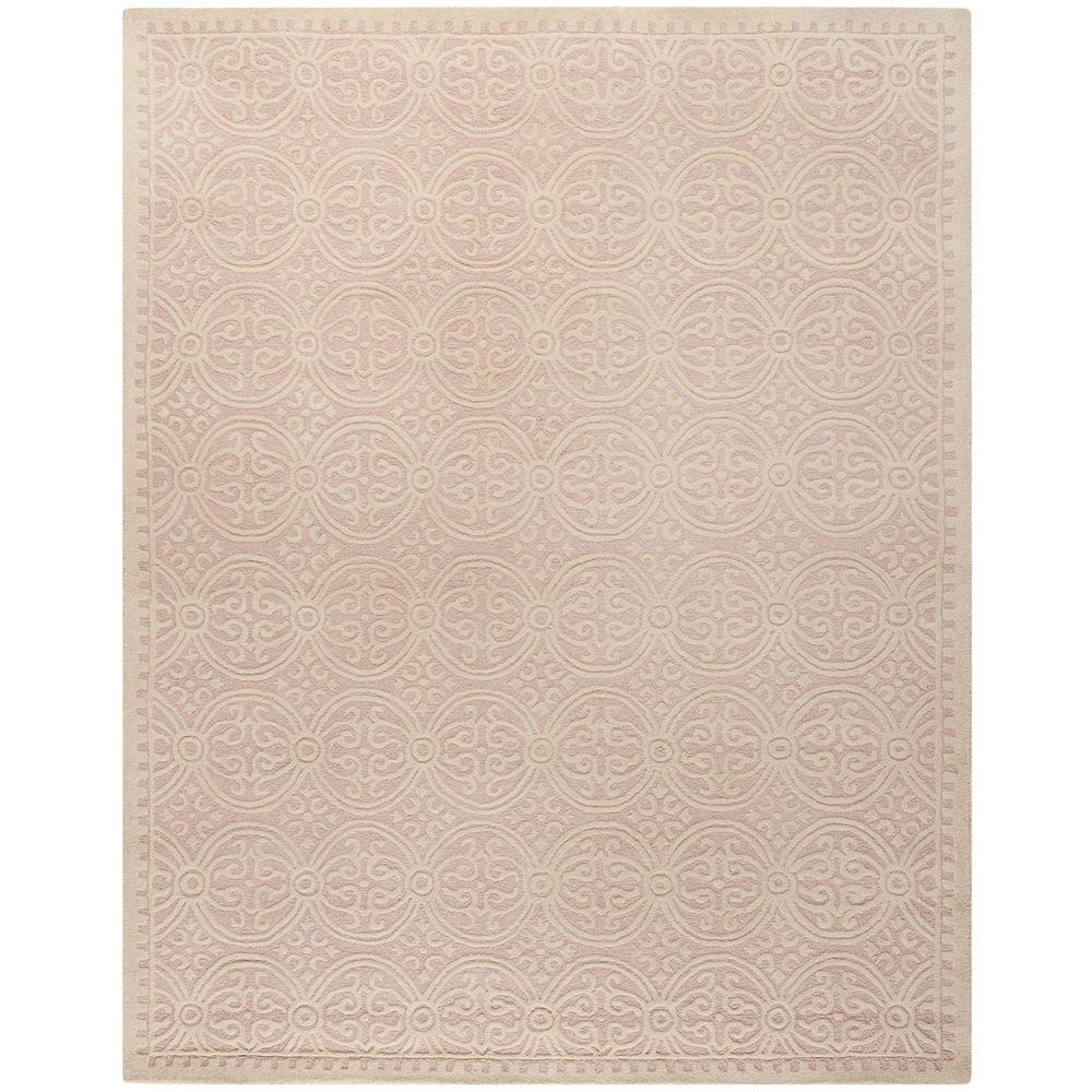 Cambridge Light Pink/Ivory 9 ft. x 12 ft. Area Rug