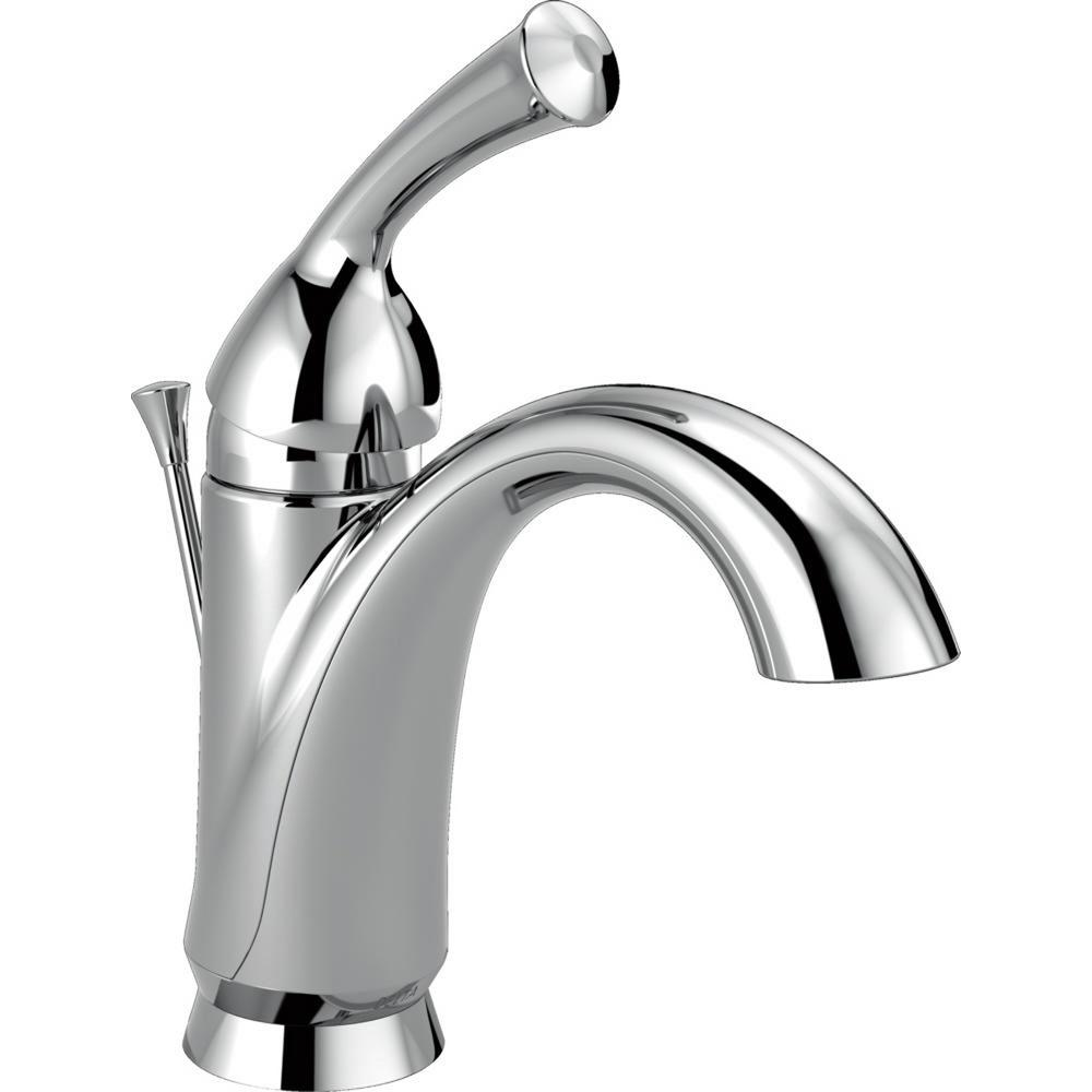 delta addison single hole single-handle bathroom faucet with metal