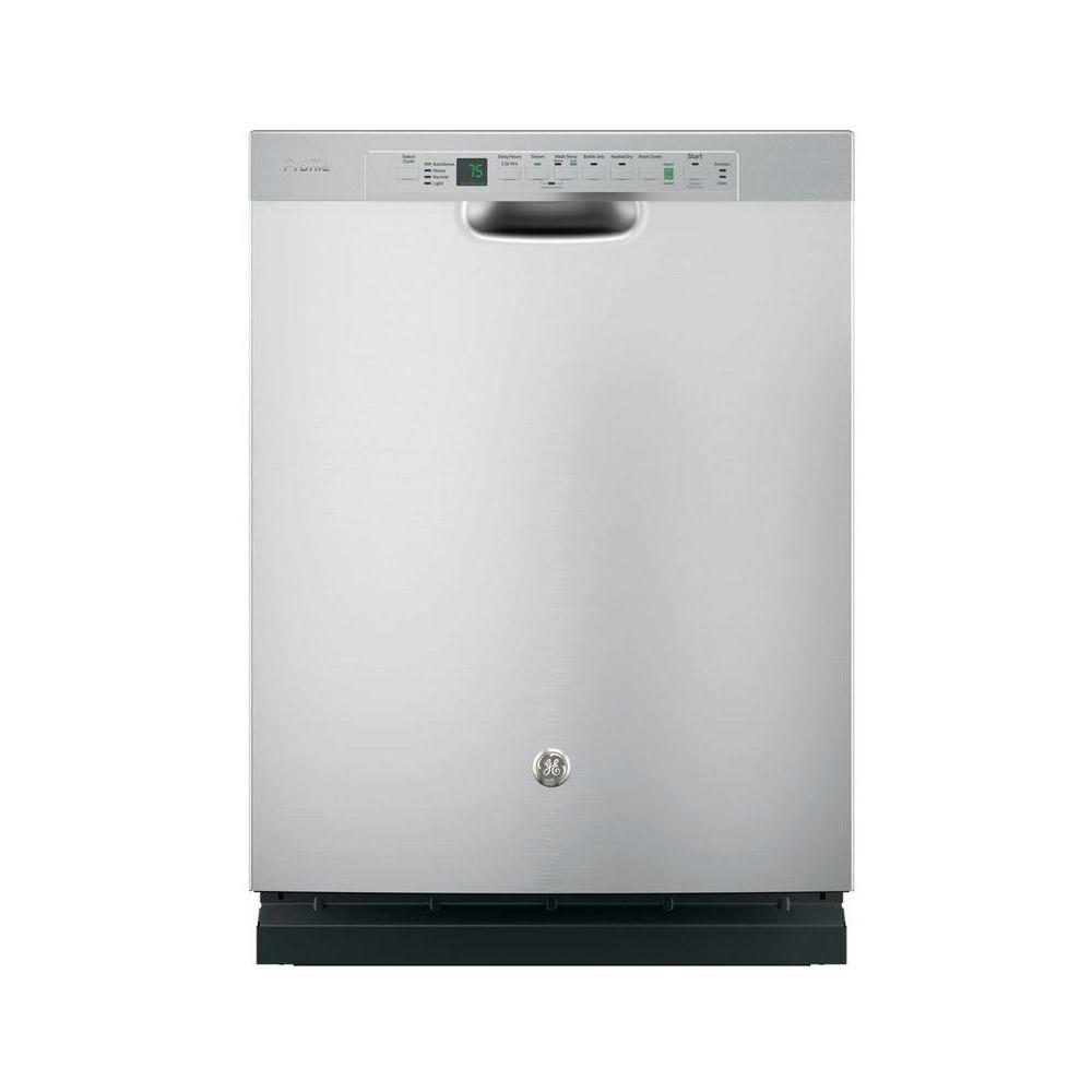 Ge Profile Stainless Steel Interior Dishwasher With Front Controls In Stainless Steel