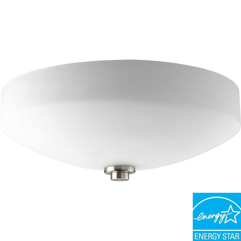 Progress Lighting International Collection Brushed Nickel 3-light Semi-flushmount-DISCONTINUED