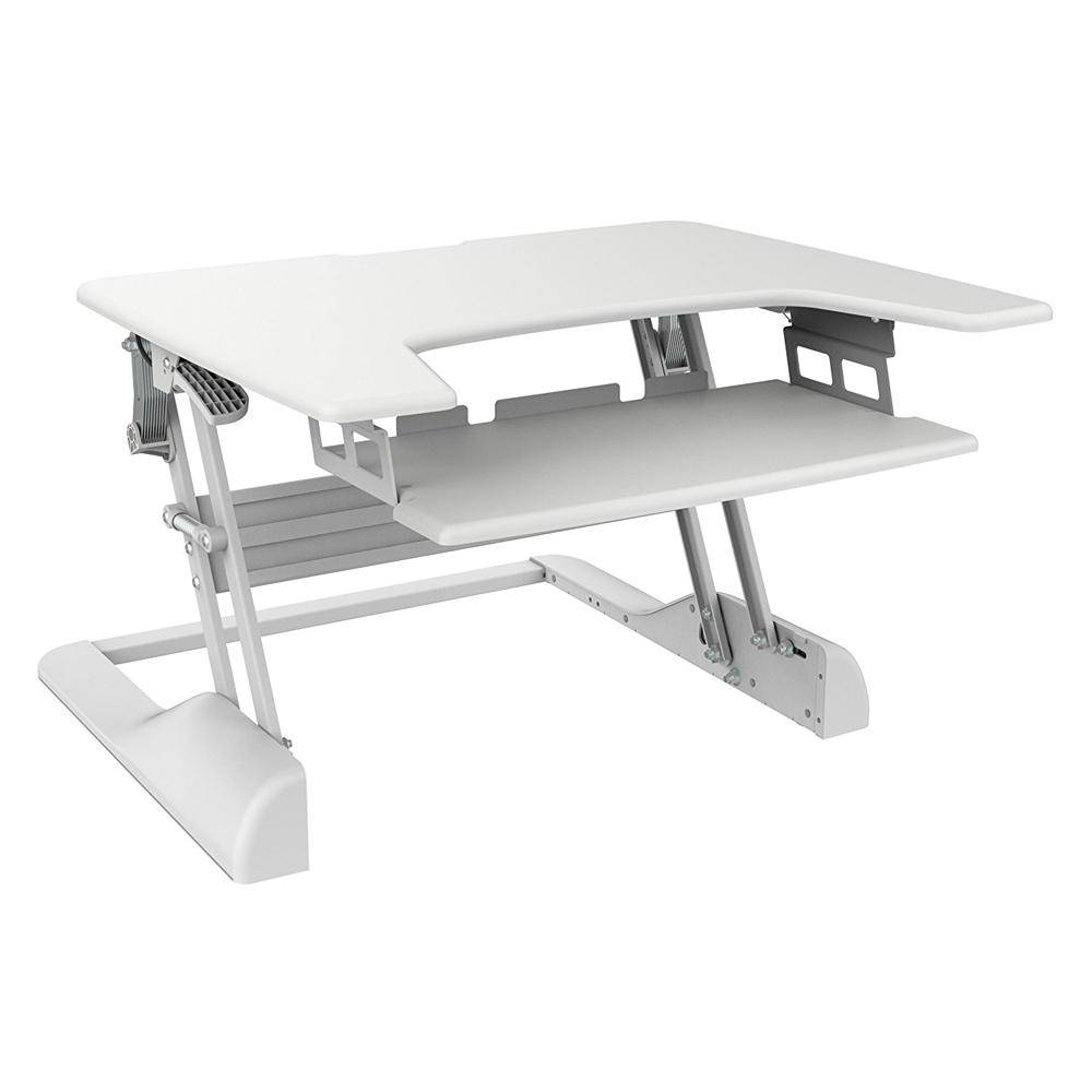 30 in. Sit-Stand Freedom Desk in White