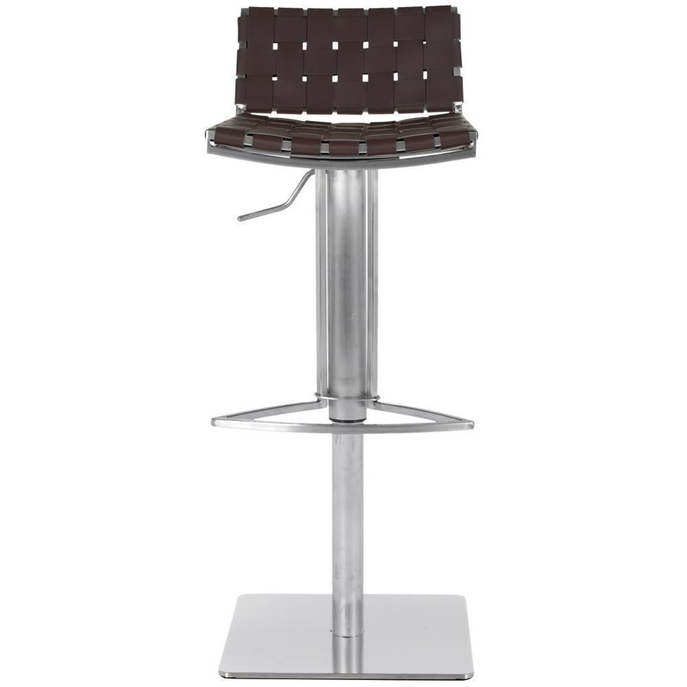 Safavieh Mitchell Adjustable Height Stainless Steel Bar Stool FOX3001B    The Home Depot