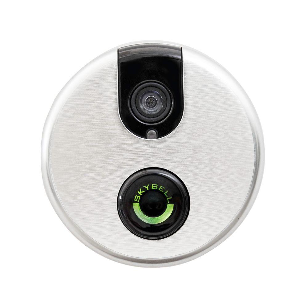 SKYBELL Wi-Fi Video Door Bell Lighted Push Button - Silver