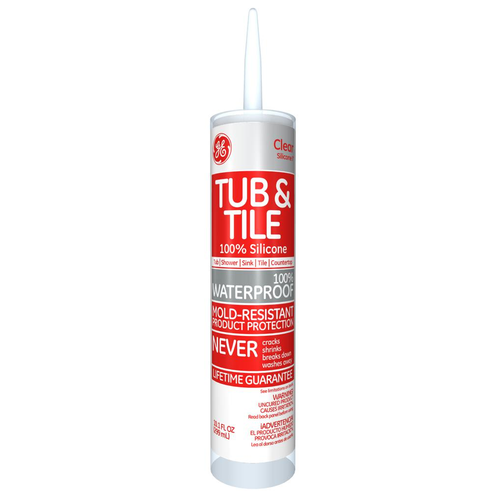 GE Tub and Tile Silicone I 10.1 oz. Clear Kitchen and Bath Caulk