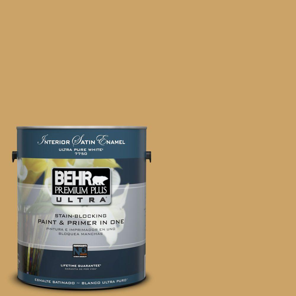 1-Gal. #PPU6-17 Classic Gold Satin Enamel Interior Paint