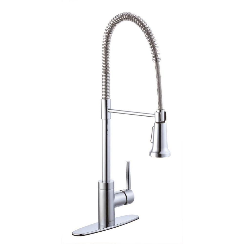 glacier bay kitchen faucets kitchen the home depot 1200 series single handle pull down sprayer kitchen faucet