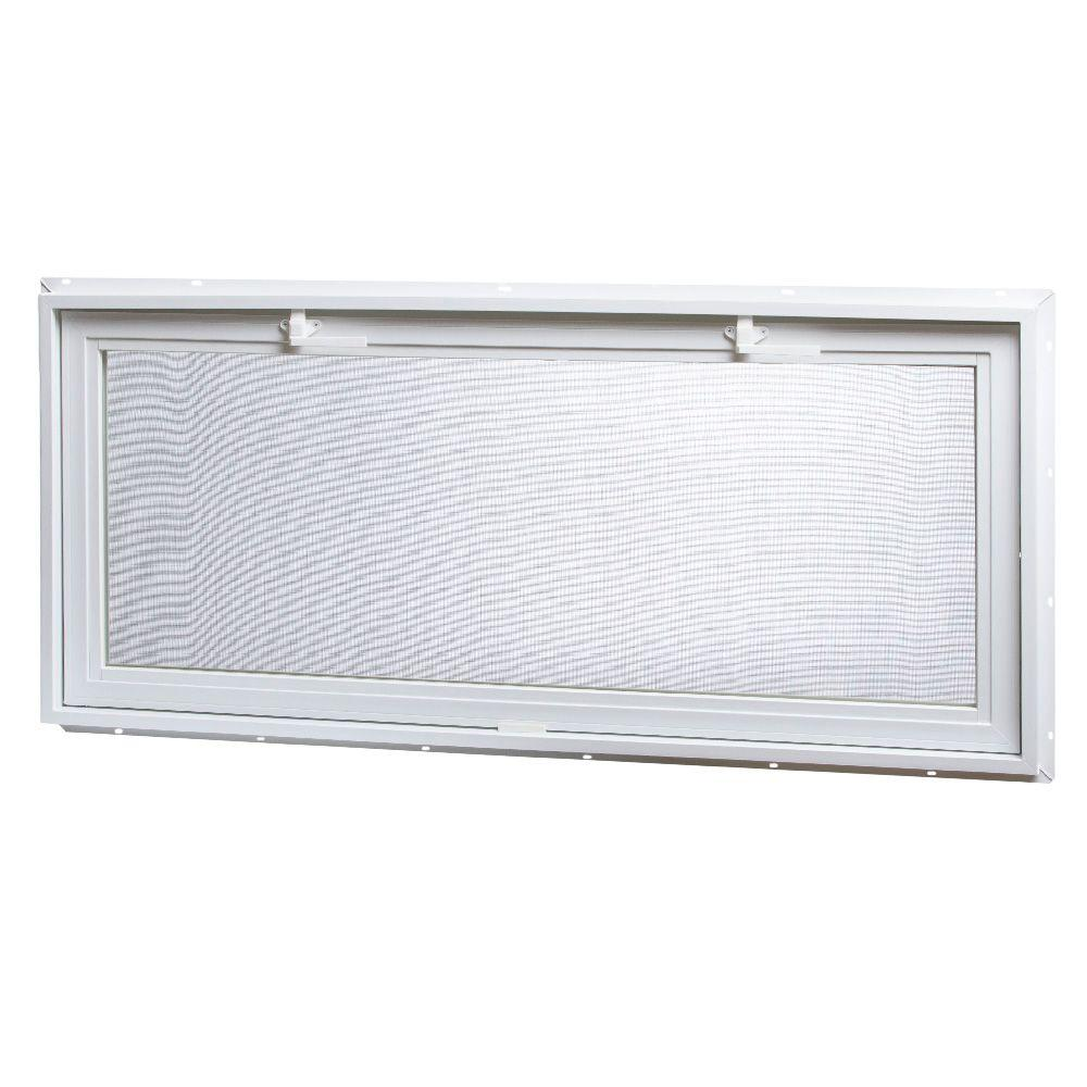 TAFCO WINDOWS 46.25 in. x 21 in. Large Hopper Ranch Vinyl Window - White