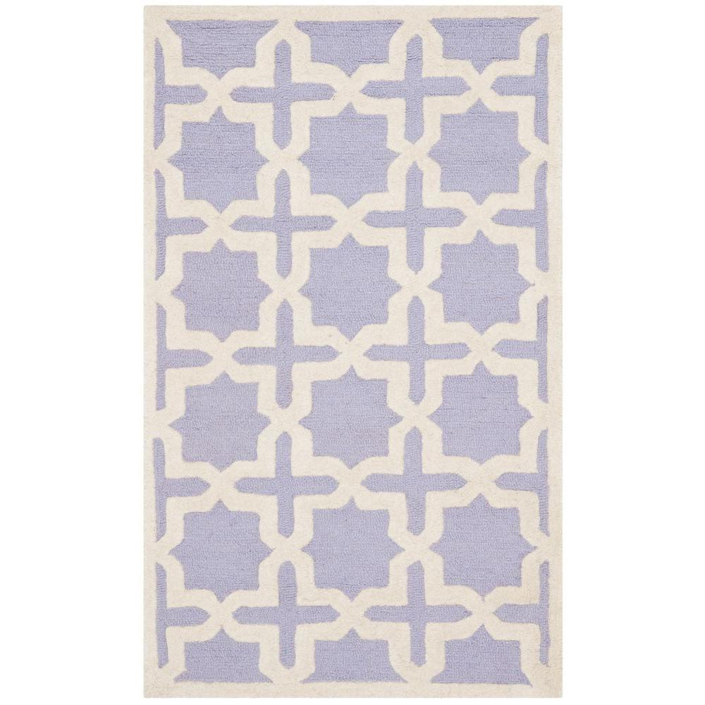 Cambridge Lavender/Ivory 4 ft. x 6 ft. Area Rug