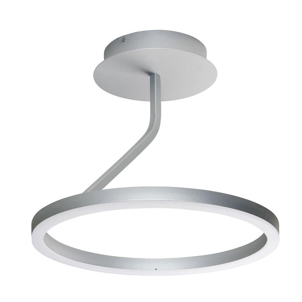 Zuben Collection 18 in. Integrated LED Modern Circular Ceiling Fixture in