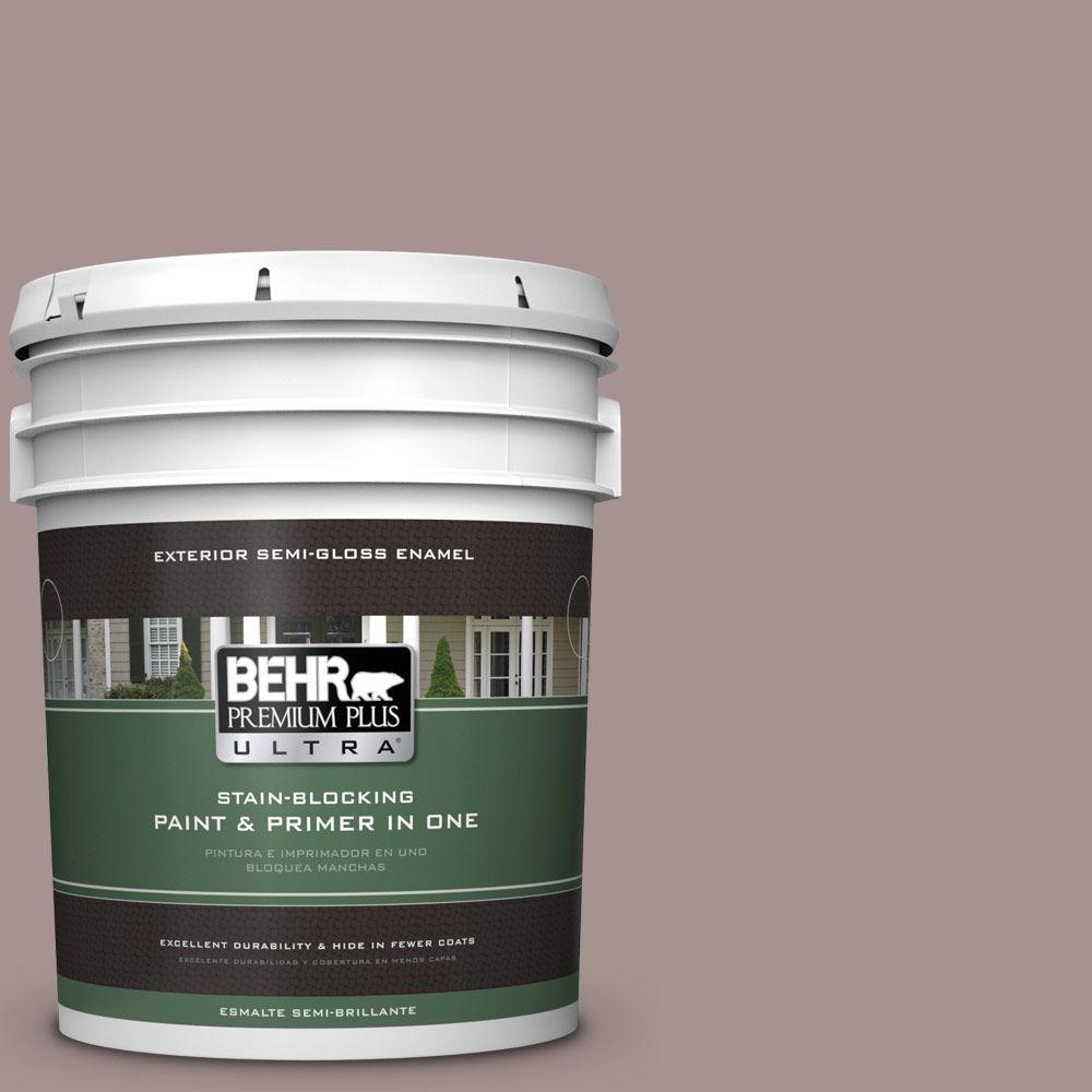 5-gal. #740B-4 Suede Leather Semi-Gloss Enamel Exterior Paint