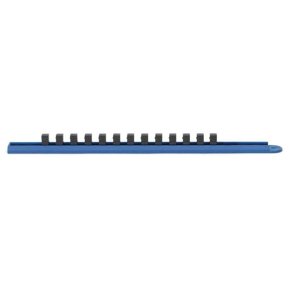 3/8 in. 1-Compartment Drive Socket Rail, Blue