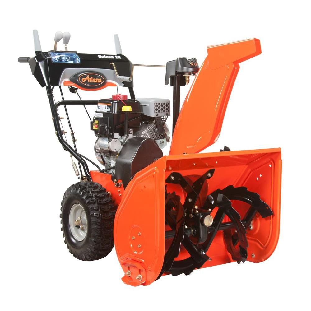 Ariens Snow Removal Deluxe 24 in. Two-Stage Electric Start Gas Snow Blower with Auto-Turn Steering 921024