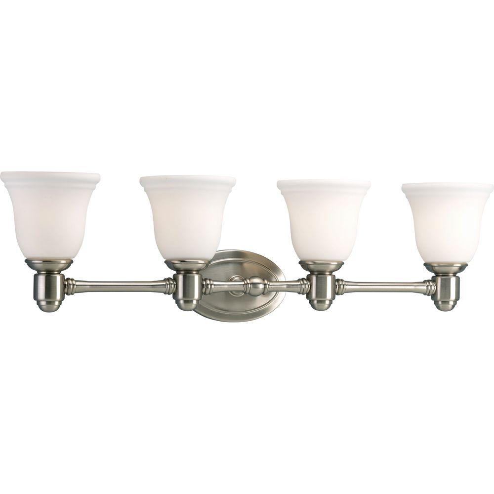 Progress Lighting Chadford Collection Brushed Nickel 4-light Vanity Fixture-DISCONTINUED