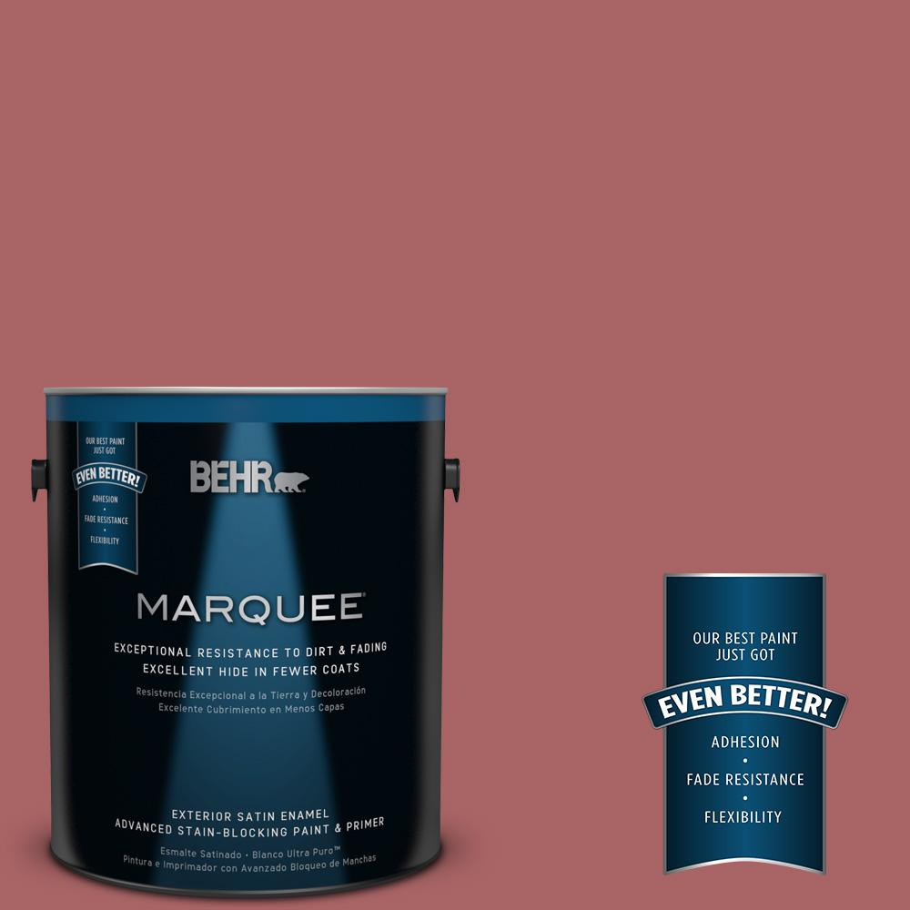 1-gal. #PPU1-6 Rose Marquee Satin Enamel Exterior Paint