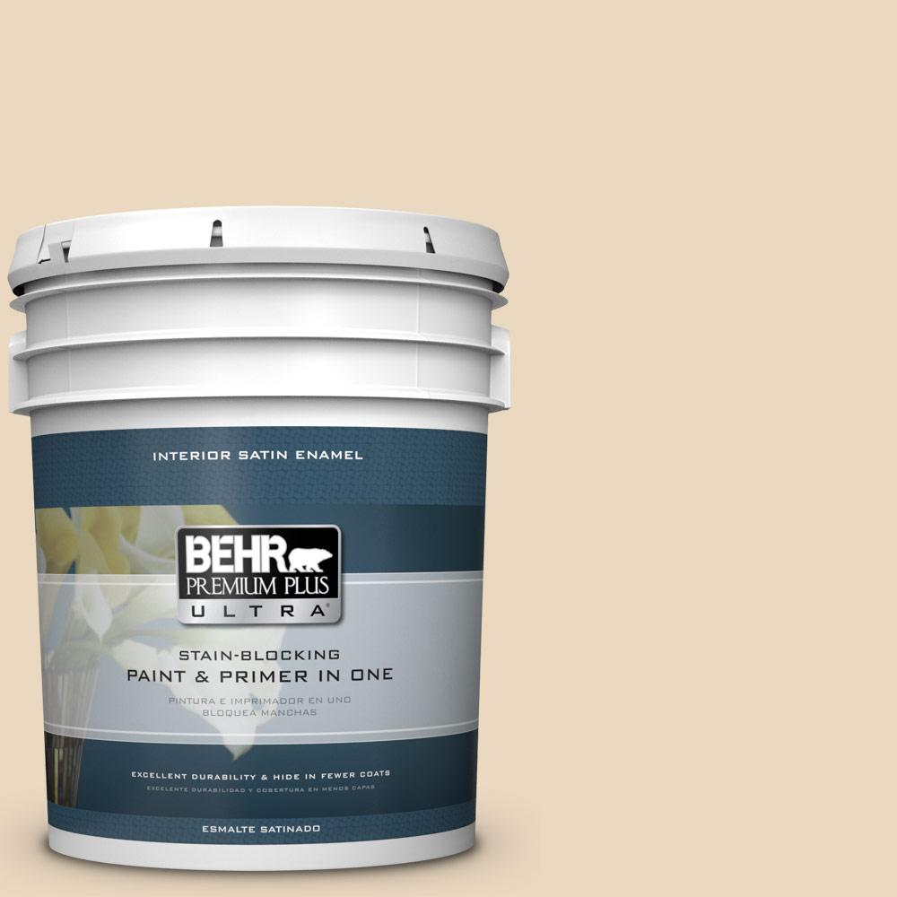 5 gal. #HDC-WR15-8 Steamed Milk Satin Enamel Interior Paint