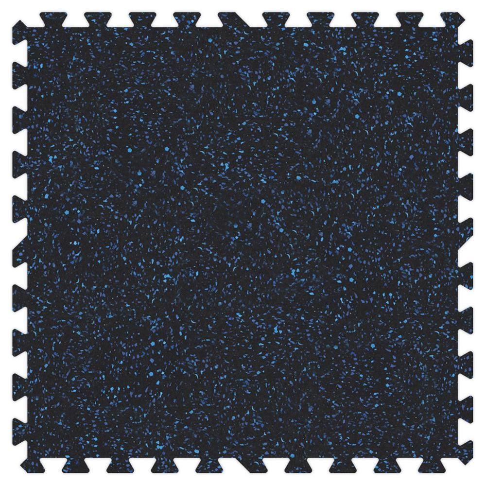 Blue Speck 24 in. x 24 in. Rubber Comfortable Mat (48
