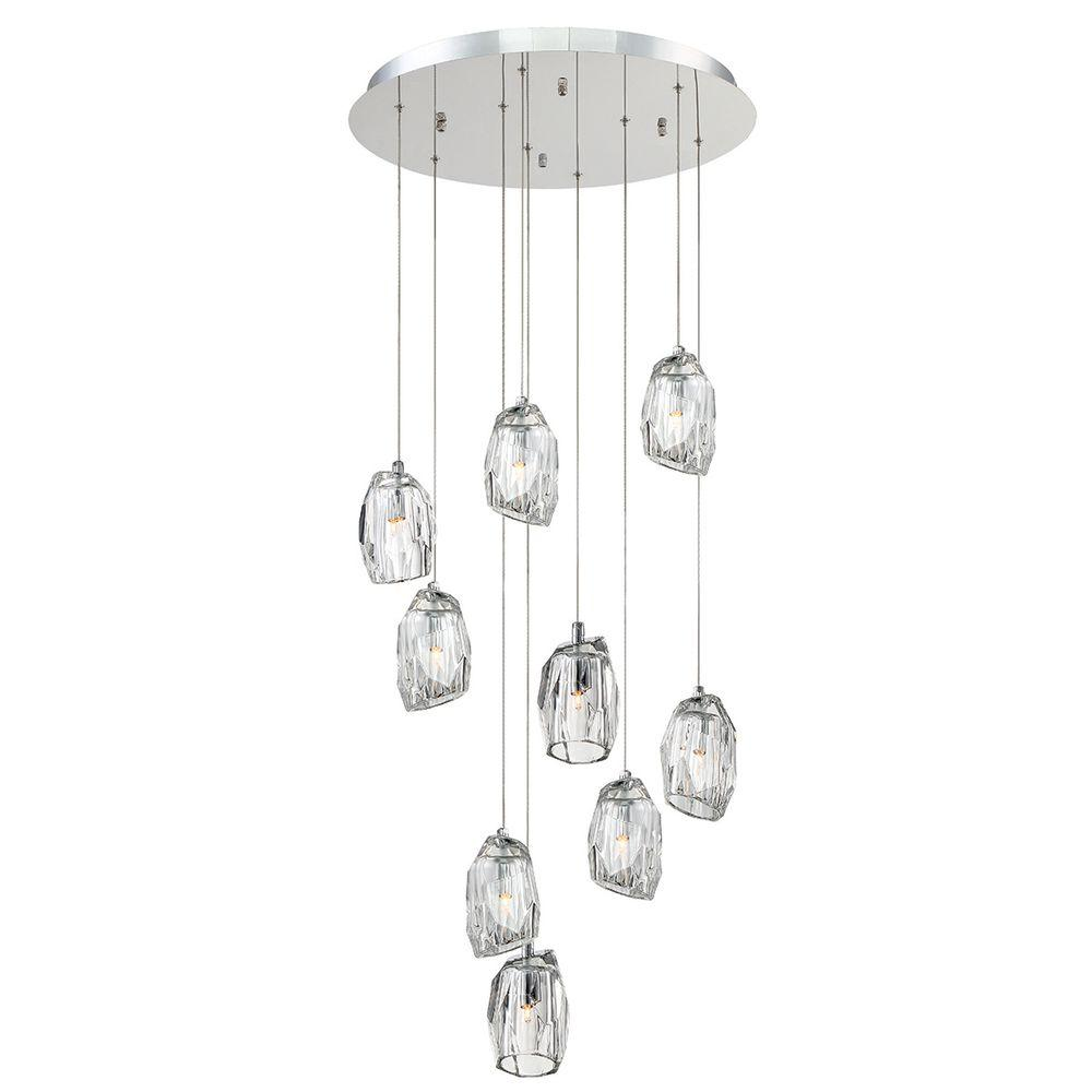 Diffi Collection 9-Light Chrome Chandelier