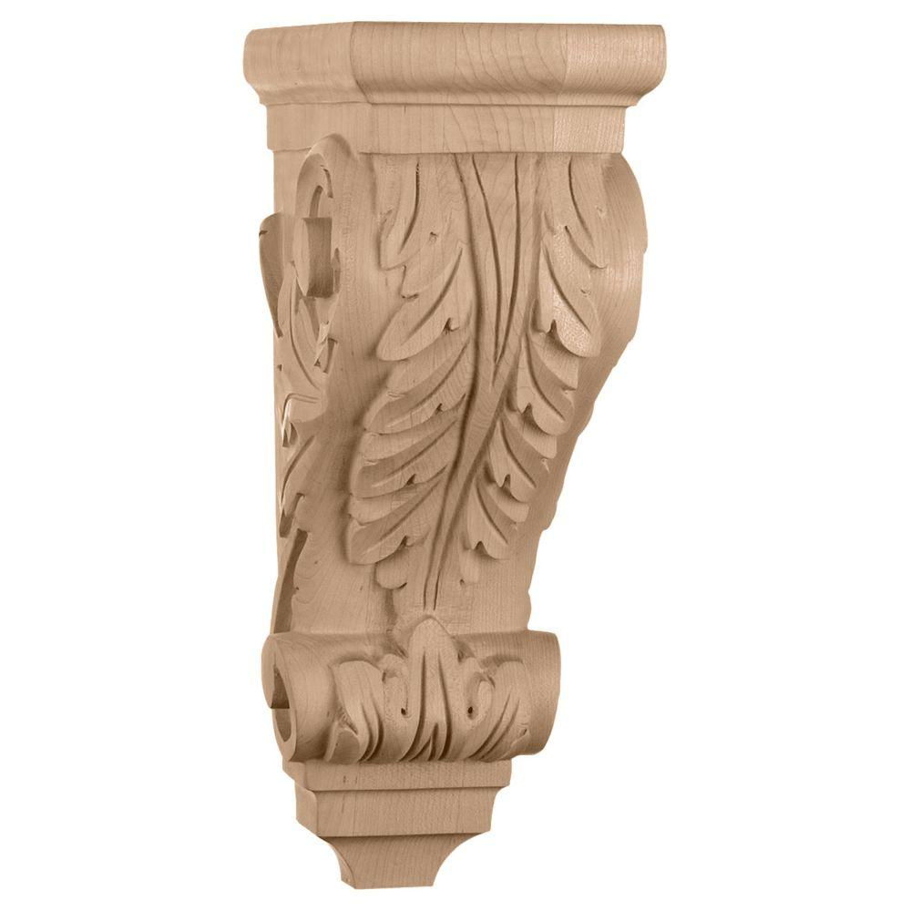 5 in. x 7 in. x 14 in. Cherry Large Acanthus