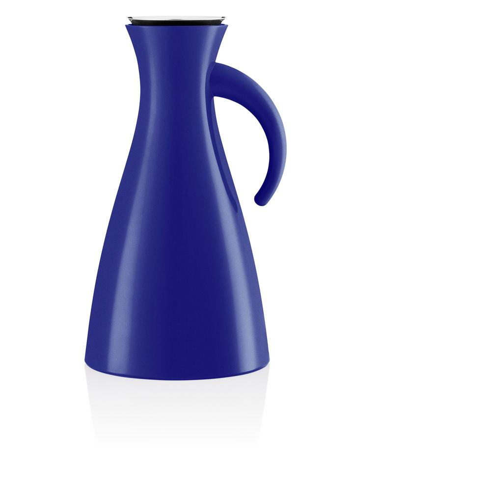 33oz Plastic Jug with Vacuum Glass Insert in Electric Blue