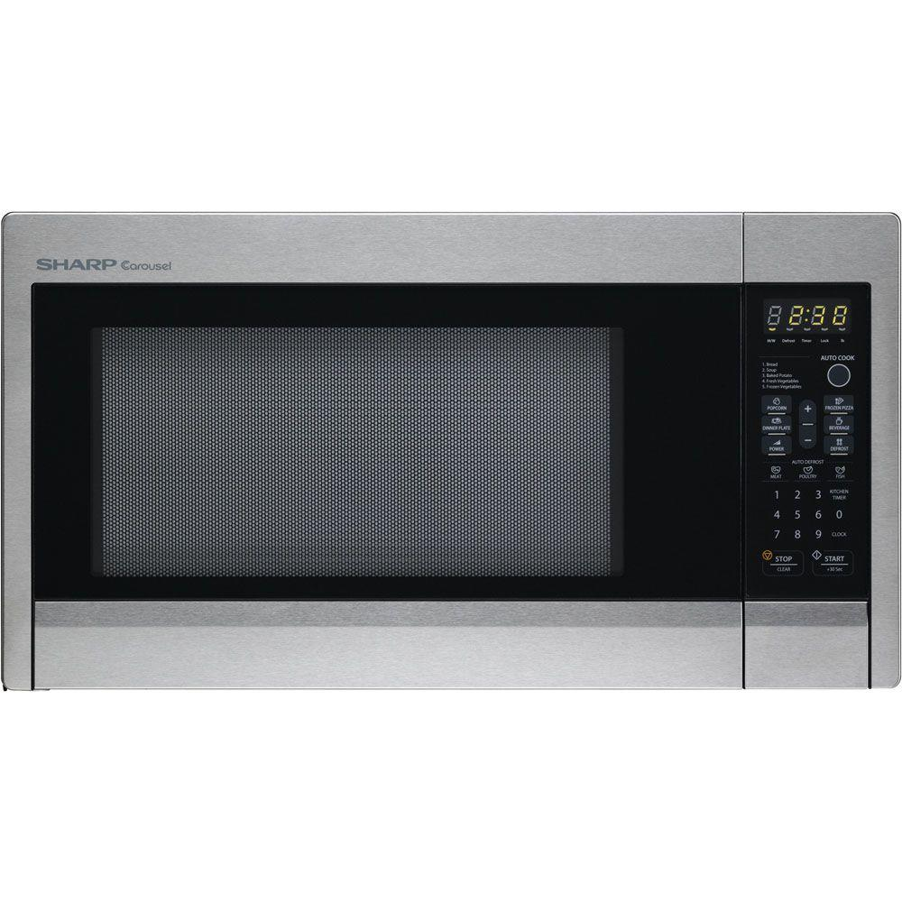Sharp Carousel 1.3 cu. ft. 1000 Watt Countertop Microwave Oven - Stainless Steel Finish-DISCONTINUED